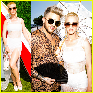 Katy Perry Gets Support From Adam Lambert At Her Easter Sunday Coachella Brunch!