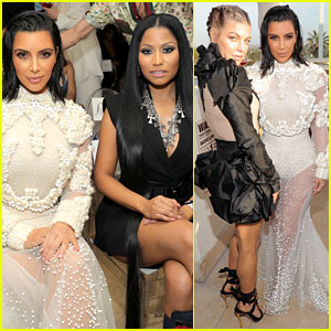 Kim Kardashian Mingles with Fergie & Nicki Minaj at Fashion Los Angeles Awards 2017!