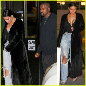Kim Kardashian & Kanye West Enjoy Brentwood Date Night