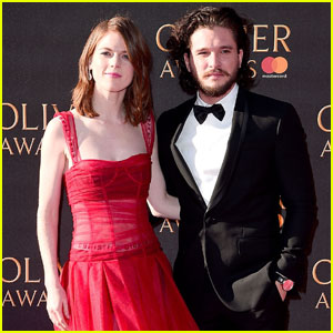 Kit Harington & Rose Leslie Couple Up For Olivier Awards 2017