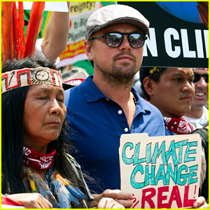 Leonardo DiCaprio Marches in Climate Change Protest in DC