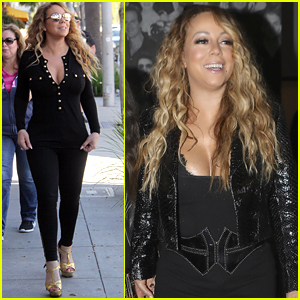 Mariah Carey Shows Off Her Curves in Black Jumpsuit!