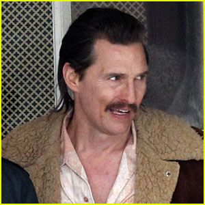 Matthew McConaughey Has Longer Hair & Mustache for 'White Boy Rick' Filming!