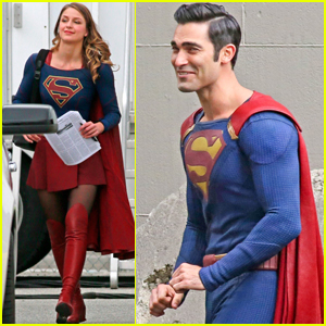 Melissa Benoist & Tyler Hoechlin Get to Work on the Set of 'Supergirl'
