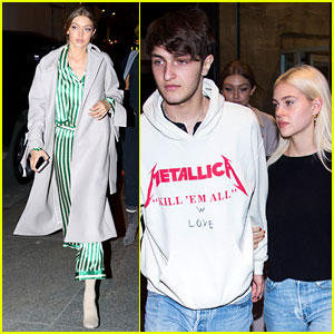 Nicola Peltz & Boyfriend Anwar Hadid Stay Close During Dinner Date With Gigi