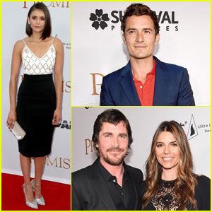 Orlando Bloom & Nina Dobrev Attend 'The Promise' Premiere With Christian Bale & The Cast