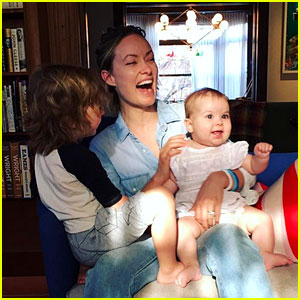 Olivia Wilde & Her Two Kids Look So Happy on Easter - Cute Pic!