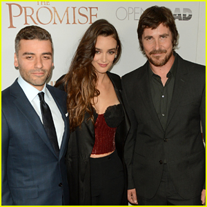 Oscar Isaac, Charlotte Le Bon, & Christan Bale Bring 'The Promise' to NYC