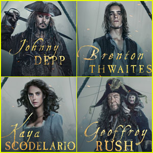 Johnny Depp & 'Pirates of the Caribbean: Dead Men Tell No Tales' Cast Star in New Character Posters!