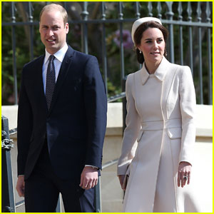 Prince William & Kate Middleton Attend Family Easter Service