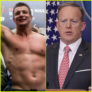 NFL's Rob Gronkowski Interrupts Sean Spicer's White House Briefing - Watch Now