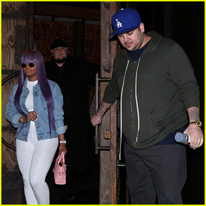 Rob Kardashian & Blac Chyna Have a Dinner Date in Hollywood