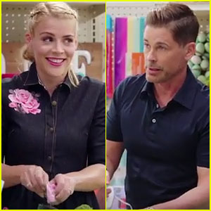 Rob Lowe Recalls Failing Middle School Wood Shop During Crafting Contest with Busy Philipps (Video)