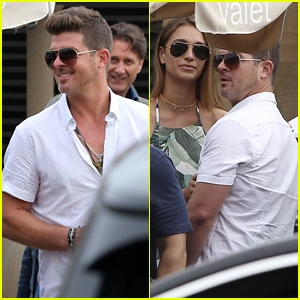 Robin Thicke Grabs Lunch with Girlfriend April Love Geary in Malibu