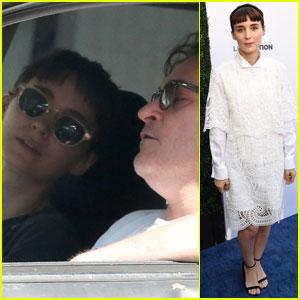 Rooney Mara Hangs With Rumored Boyfriend Joaquin Phoenix Before Humane Society Benefit