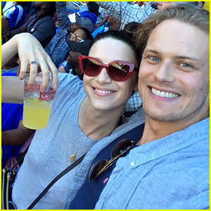 Outlander's Sam Heughan & Caitriona Balfe Go to a Rugby Game Together!
