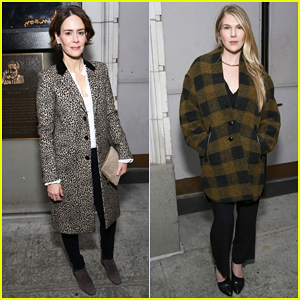 Sarah Paulson & Lily Rabe Have Theater Night At 'The Little Foxes' Opening!