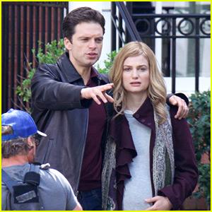 Sebastian Stan Films a New Movie with Alison Sudol