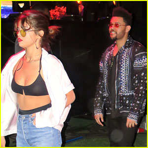 Selena Gomez & The Weeknd Keep Close on Coachella Night One!