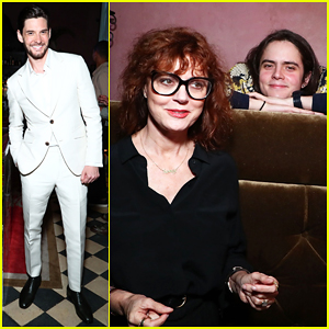Susan Sarandon Supports Son Miles Robbins At Uomo Ferragamo Fragrance Launch!
