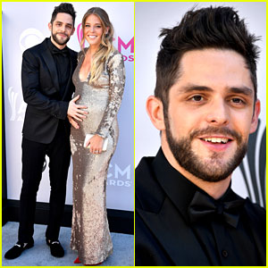 Thomas Rhett & Pregnant Wife Hit Red Carpet at ACM Awards 2017