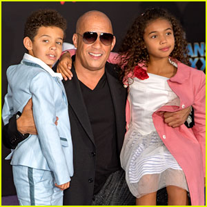 Vin Diesel Brings His Kids to 'Guardians 2' Hollywood Premiere!