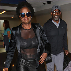 Viola Davis Bares Her Abs in Sheer Look at the Airport!