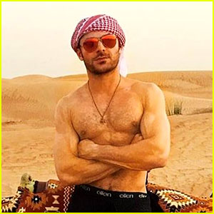 Zac Efron Riding a Camel Shirtless is Everything You Dreamed It Would Be