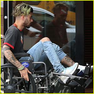 Zayn Malik Arrives at Gigi Hadid's Apartment in a Wheelchair