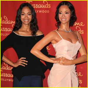 Zoe Saldana Unveils Her Wax Figure at Madam Tussauds Hollywood