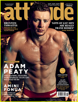 British Olympian Adam Peaty Bares Ripped Body for 'Attitude'