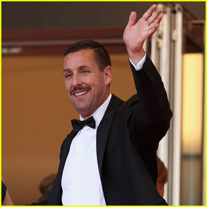 Adam Sandler Sports One Serious Mustache at Cannes 2017