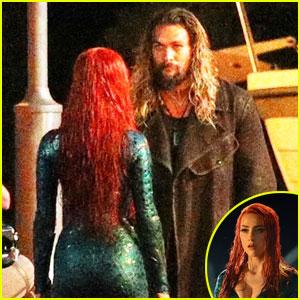 Jason Momoa & Amber Heard - First 'Aquaman' Set Photos!