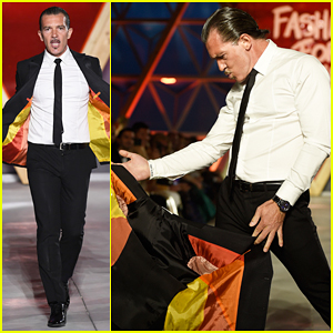 Antonio Banderas Hits Fashion For Relief Runway Like A Matador!