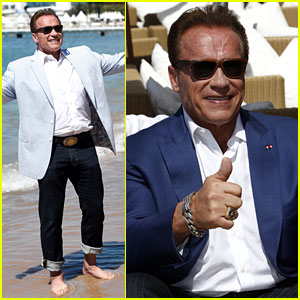 Arnold Schwarzenegger Goes Barefoot on the Beach in Cannes, Confirms New 'Terminator' Movie