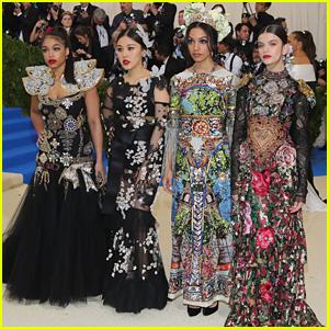 Corinne Foxx & Sonia Ben Ammar Dazzle in Dolce & Gabbana at Met Gala 2017