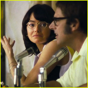 Emma Stone & Steve Carell Play Iconic Tennis Stars in 'Battle of the Sexes' Trailer - Watch Now!