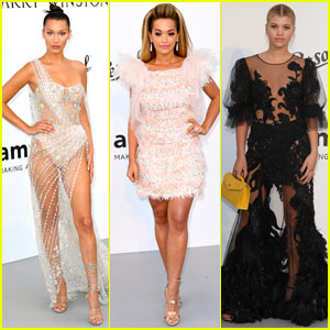 Bella Hadid Looks Like a Crystal Goddess at amfAR Gala 2017