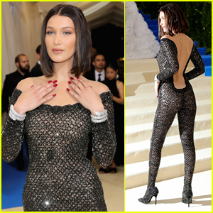 Bella Hadid Ditches Underwear in Sexy Catsuit at Met Gala 2017