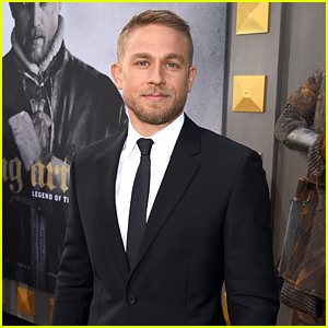 Charlie Hunnam Suits Up for 'King Arthur' Premiere