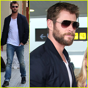 Chris Hemsworth Gives a Fun Shout Out to Wife Elsa Pataky in New Photo!