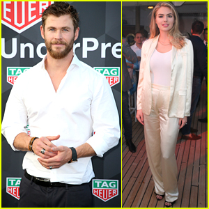 Chris Hemsworth & Kate Upton Arrive in Style for Yacht Party in Monaco