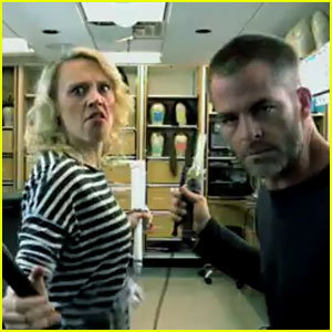 Chris Pine & Kate McKinnon Film LCD Soundsystem Music Video in 'SNL' Promo - Watch Now!