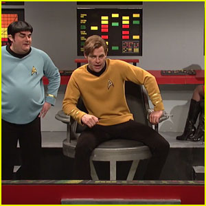 Chris Pine Brings 'Star Trek' to 'Saturday Night Live' Skit (Videos)