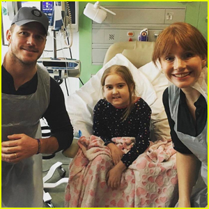 Chris Pratt & Bryce Dallas Howard Visit Children's Hospital While Filming 'Jurassic World'