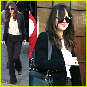 Dakota Johnson Steps Out for Low-Key Big Apple Afternoons