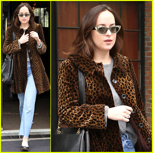 Dakota Johnson Steps Out in Leopard Print Before the Met Gala