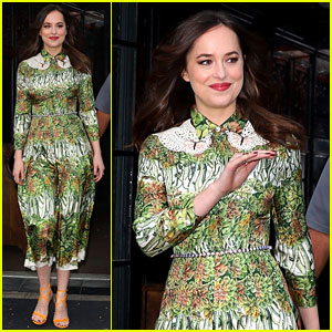 Dakota Johnson Stuns in Gucci En Route to Fragrance Event