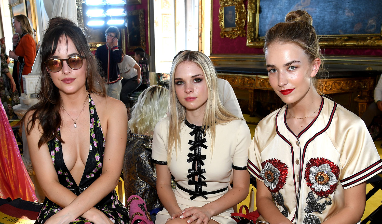 Dakota Johnson Brings Her Sisters To The Gucci Fashion