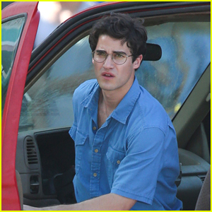 Darren Criss Gets Into Character Filming 'Versace' in Miami